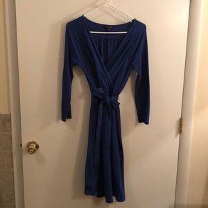 NEW Lands End v-neck Dress with Tie waist